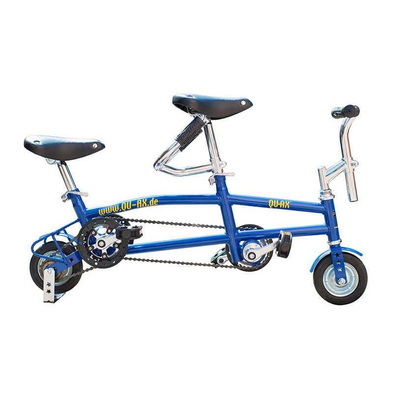 "Mini tandem con ruedas de 6"" - Azul"