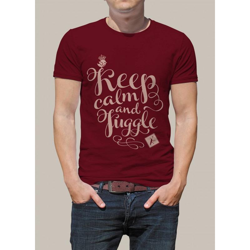 Camiseta KEEP CALM AND JUGGLE by Malabart - Rojo