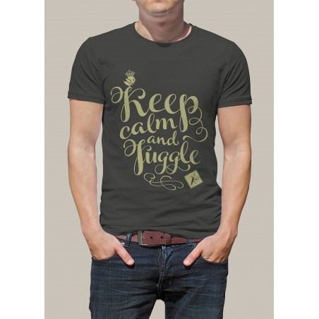 Camiseta KEEP CALM AND JUGGLE by Malabart -Gris