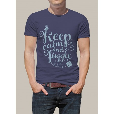 Camiseta KEEP CALM AND JUGGLE by Malabart - Azul