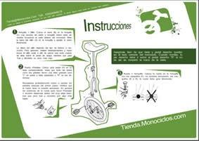 Instrucciones para montar tu monociclo