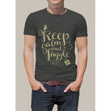 Camiseta KEEP CALM AND JUGGLE by Malabart -Gris